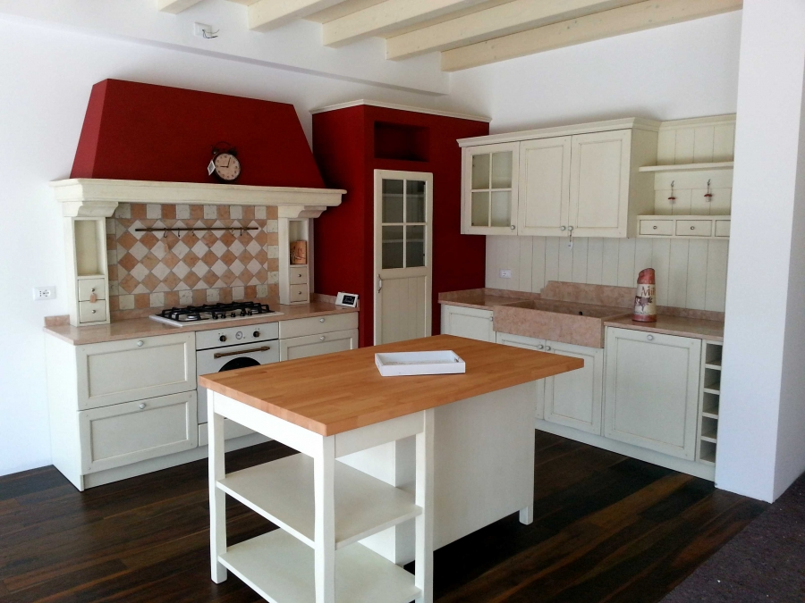 Cucina isola country muratura | Cucine country - shabby